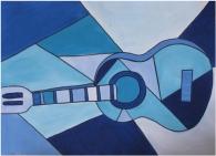 Pablo-Picasso-Art-Blue-Guitar-cubism-painting-24-X-32-no-framed
