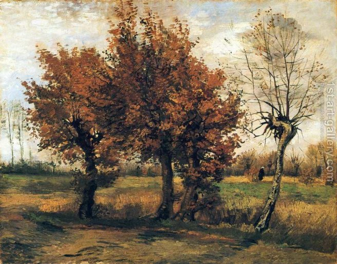 Autumn-Landscape-With-Four-Trees